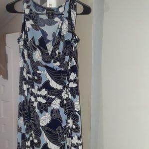 Comfortable Blue & White dress